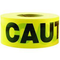 Premium Yellow Caution Tape 3 inch x 1000 feet Bright Yellow Bold Black Text